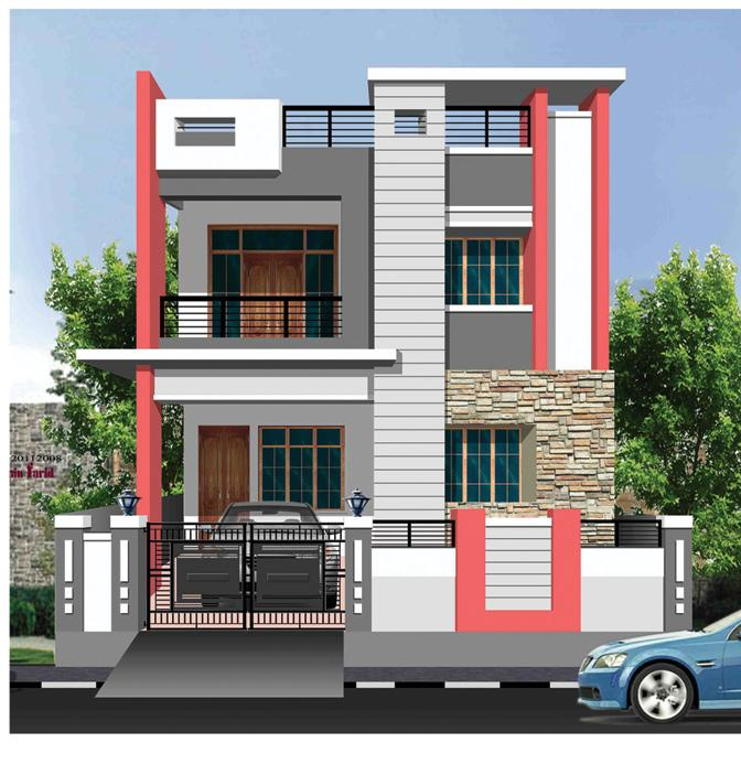 Single floor front elevation designs in bangalore joy for Home designs bangalore