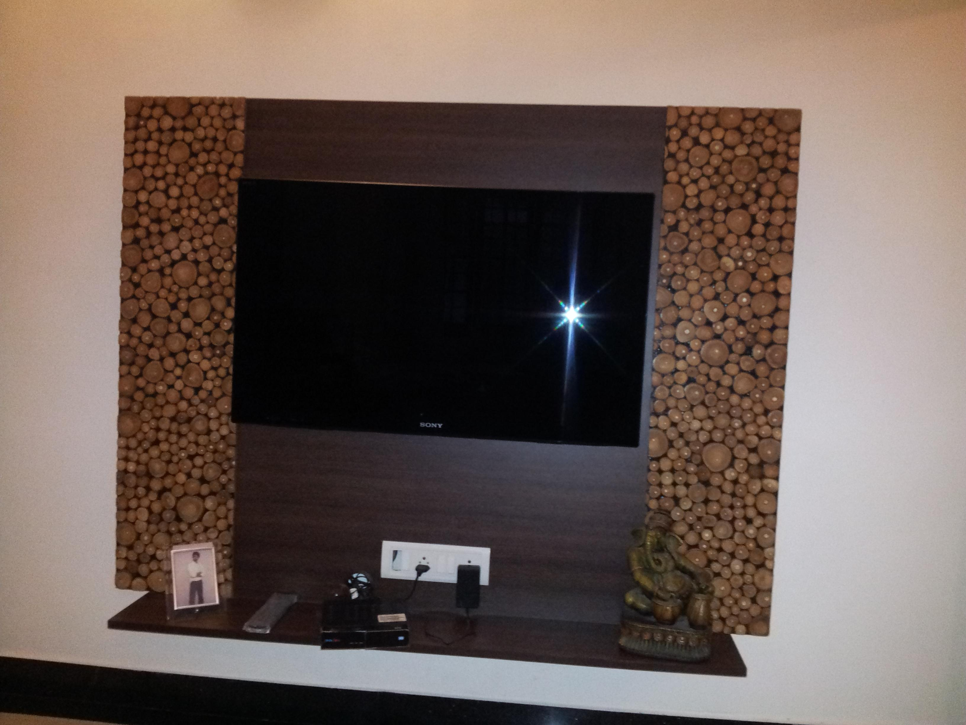 Led Tv Wall Mount Panel With Beautiful Laminate On Both Sides Of The