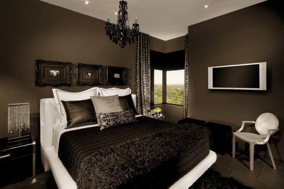 Modern Black bedroom decor and....