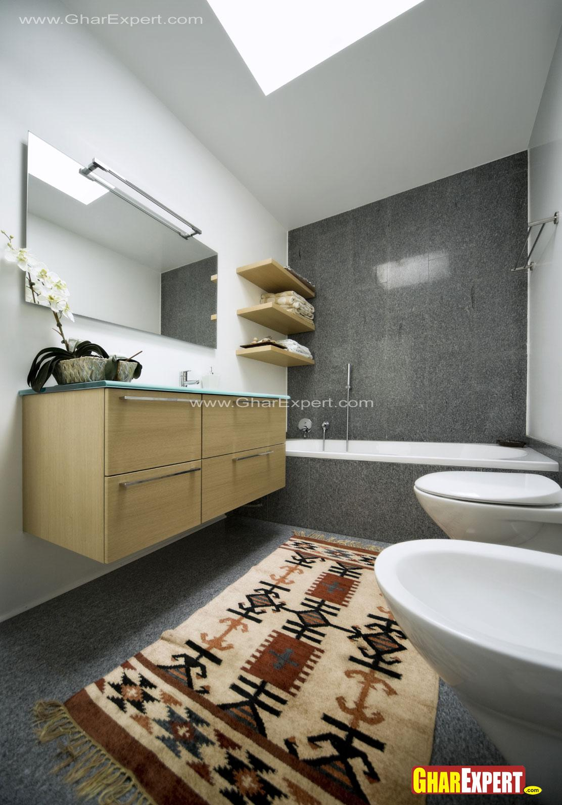 Modern bathroom design for Approximately 100 sq. ft size bathroom ...