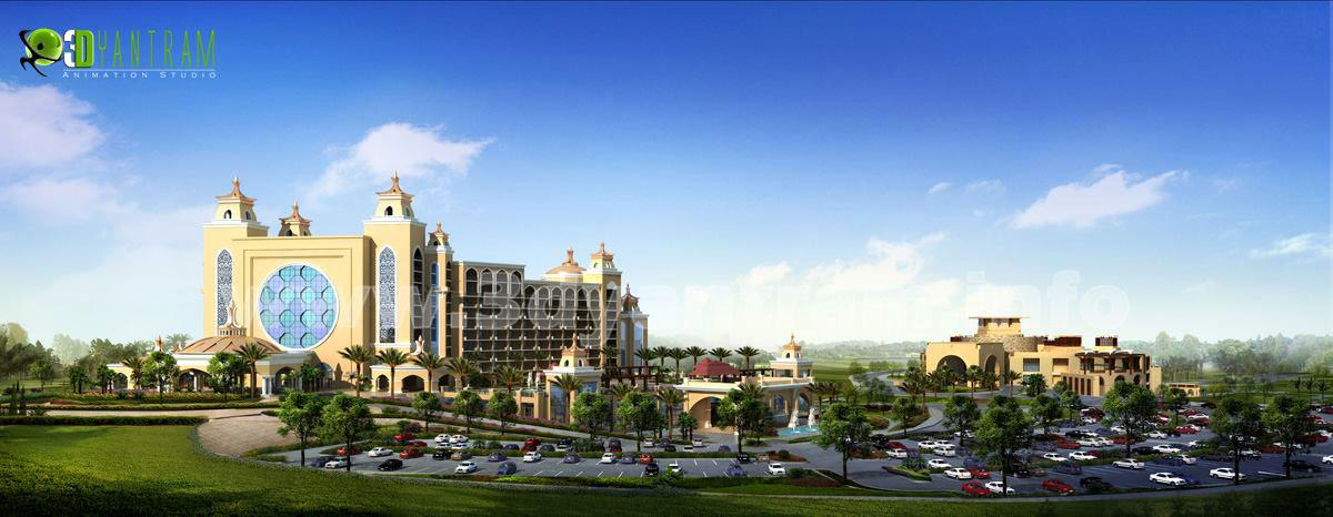 3D Architectural Hotel Exterio....