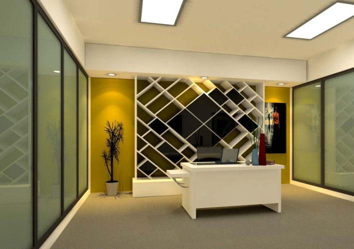Office Wall Design For Reception Area Gharexpert
