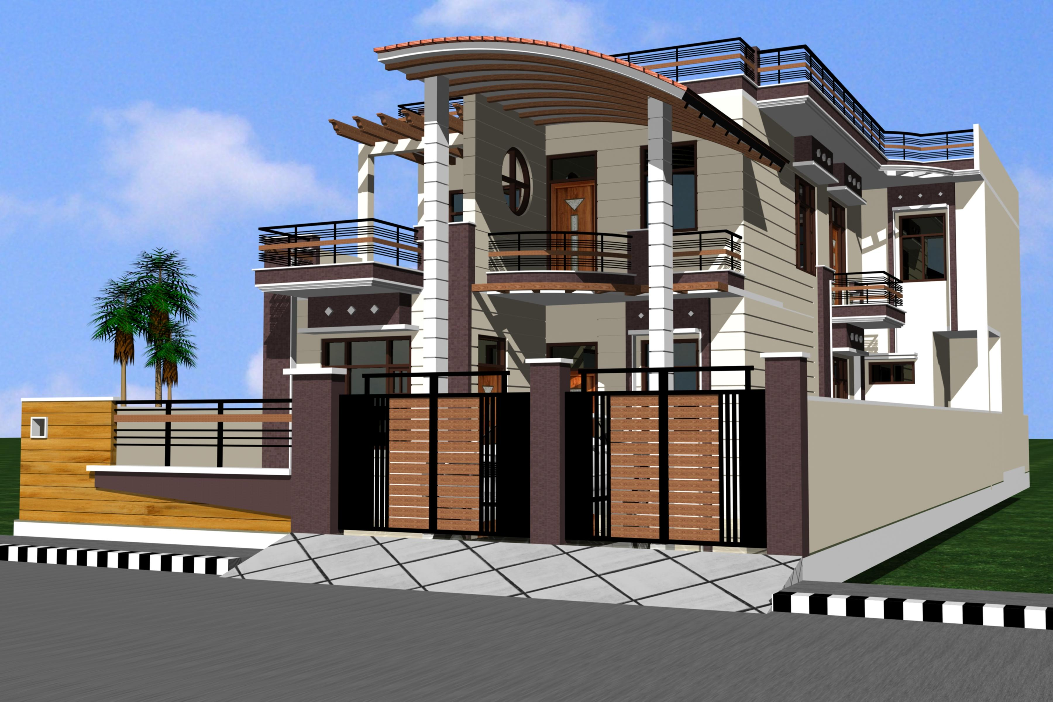 Indian building front elevation homedesignpictures Indian house front design photo