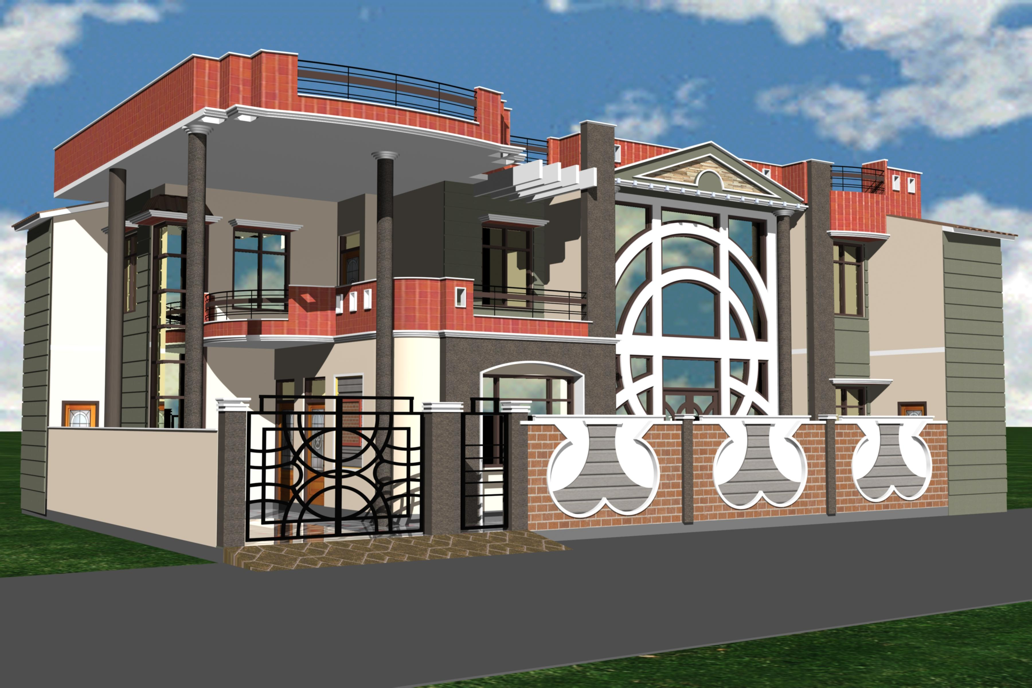 Building Front Elevation Designs Chennai : Indian building front elevation houses plans designs