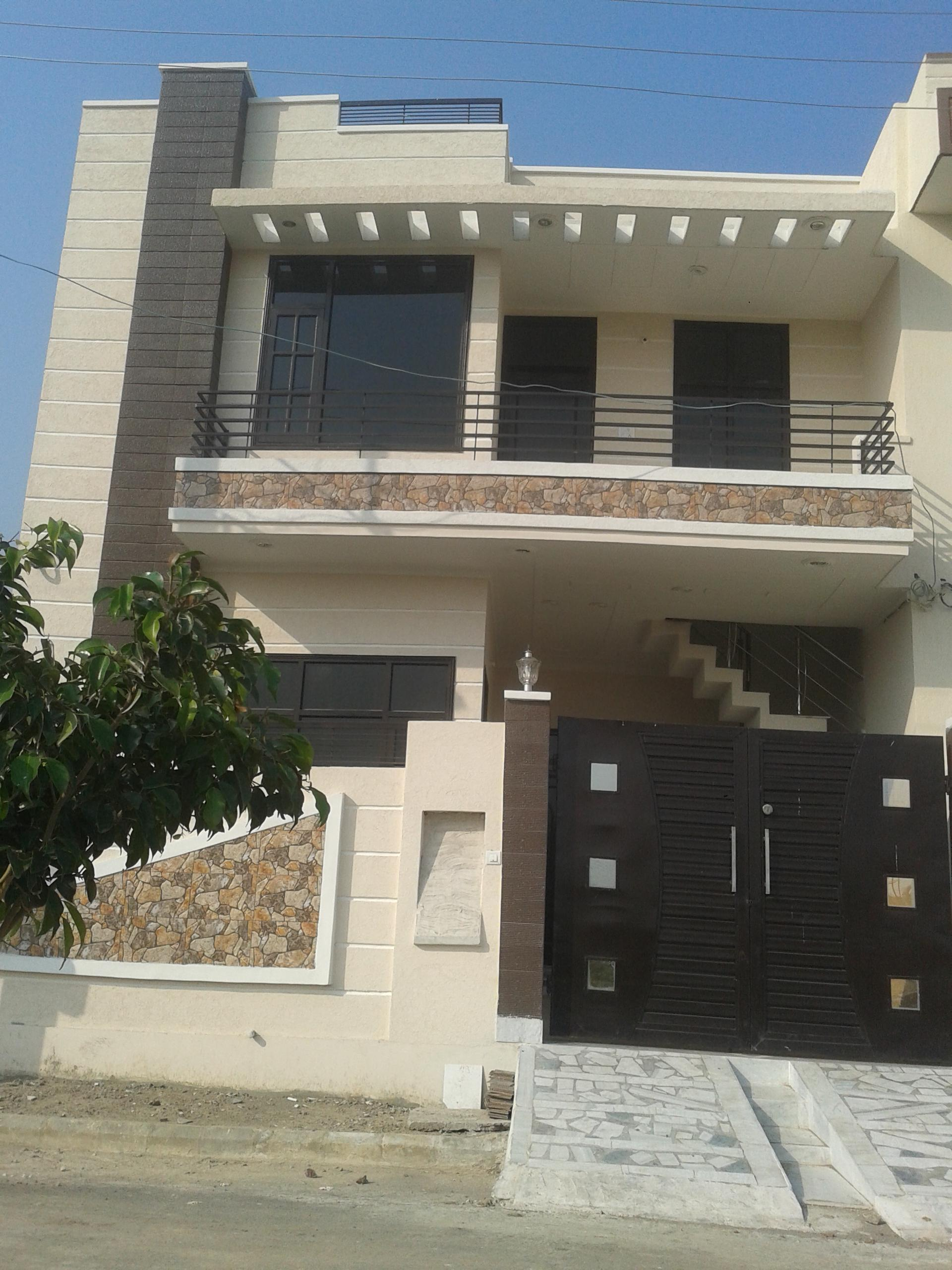 Home Front Elevation Colour : Simple cost effective elevation design for a two storey