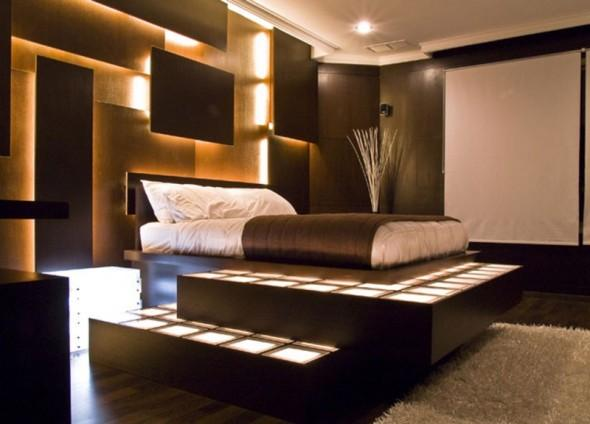 Luxury Bedroom furniture and internal designing with lighting ...