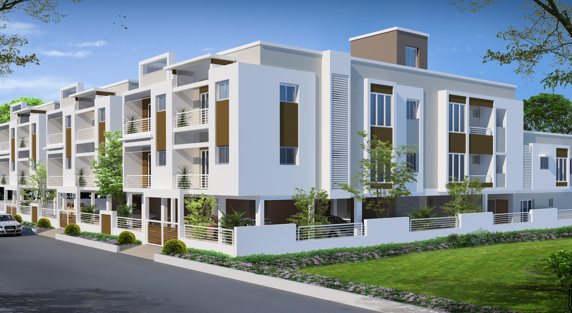 House Front Wall Elevation : Duplex boundary wall front elevation joy studio design
