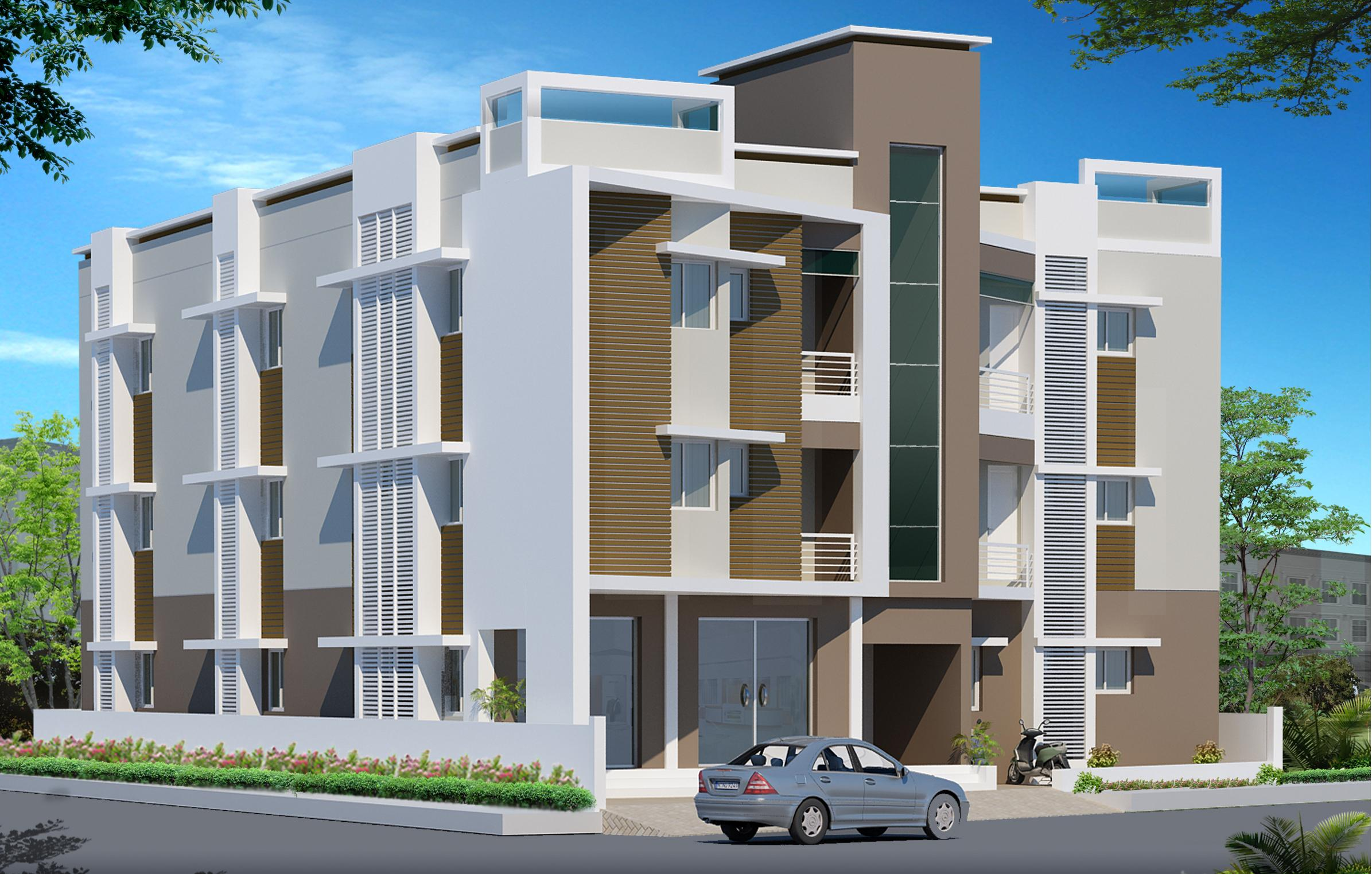 Front Elevation Of Multistoried Building : Three d elevation design for multi storey residential