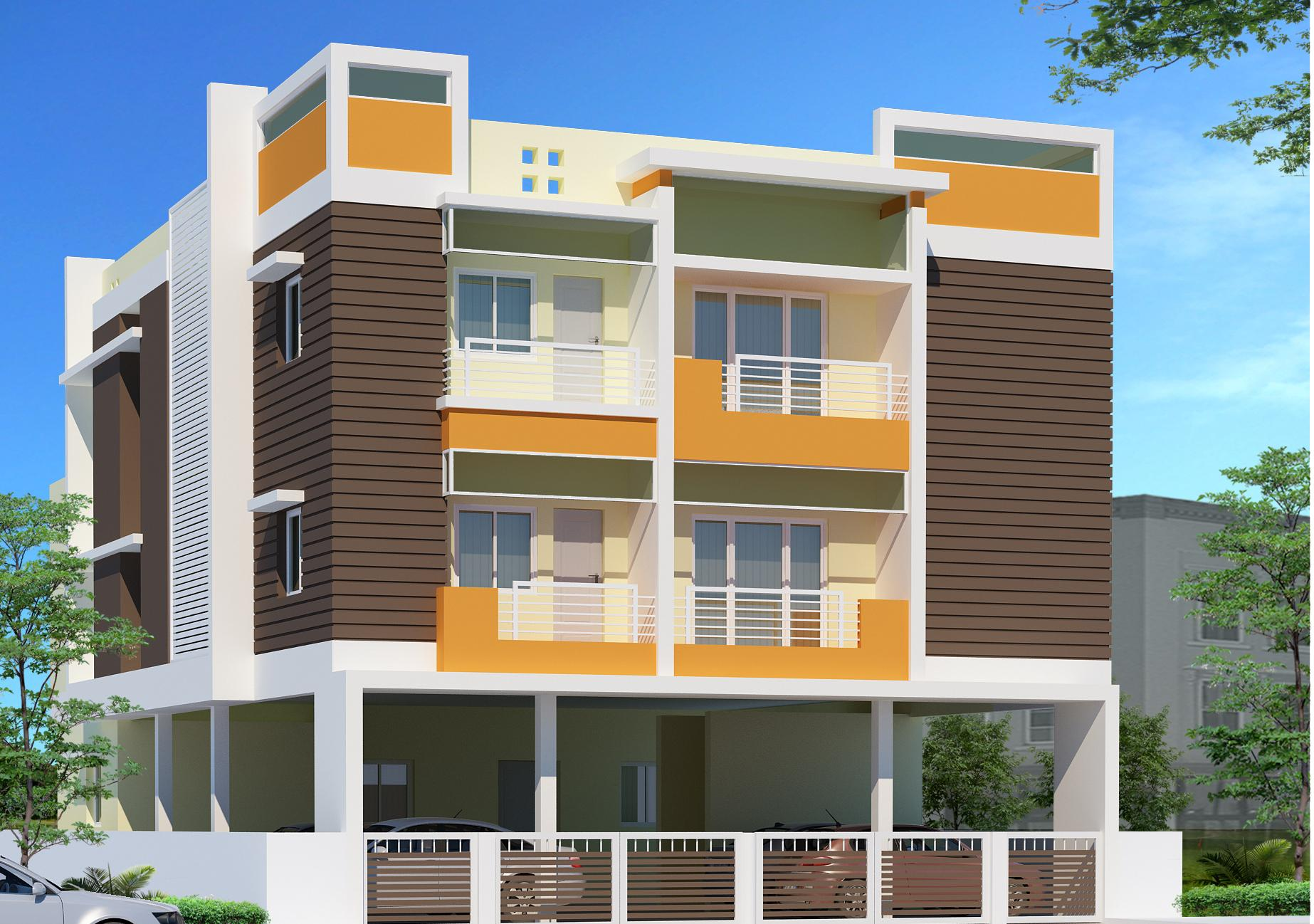 Contemporary two story office building elevations joy for 3 storey building front elevation