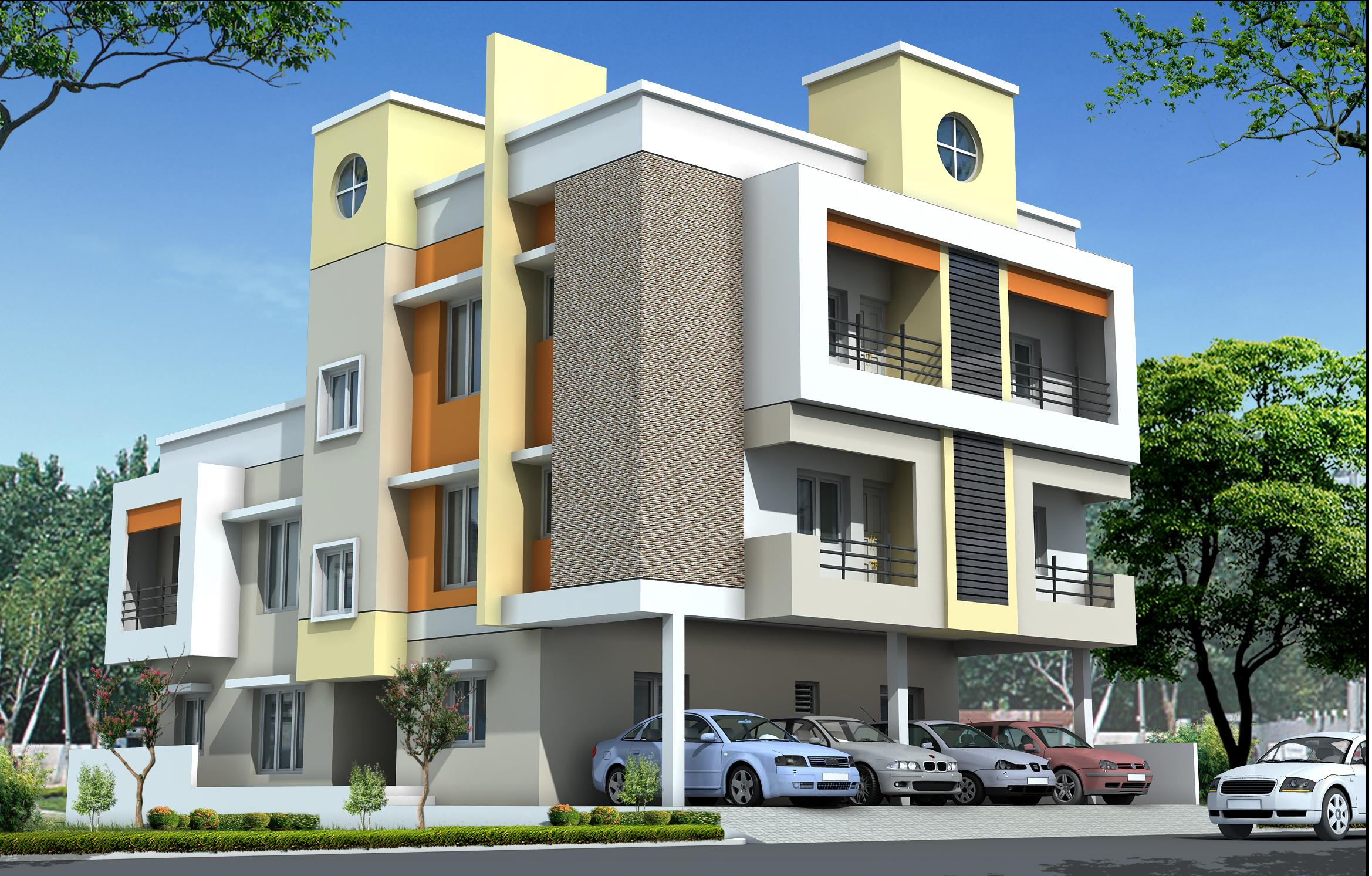 Residential multi storey building elevation design for Residential house design