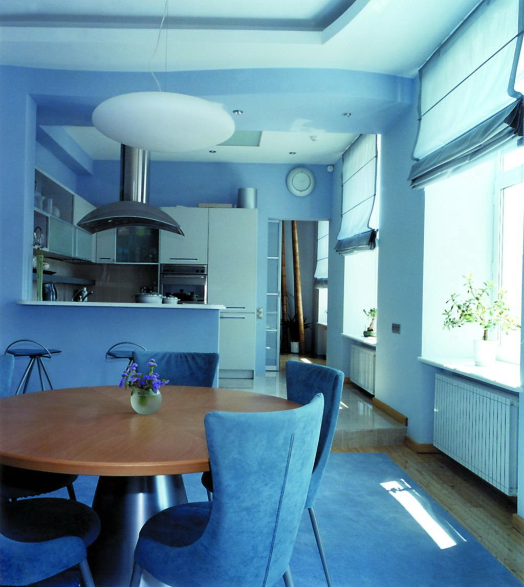blue theme for kitchen