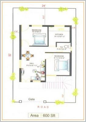 600 sq foot House Plan
