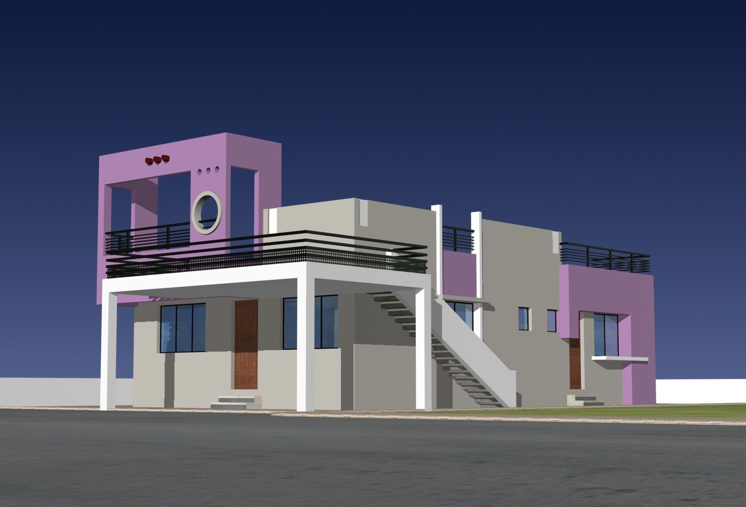 ELEVATION FOR SMALL BUNGALOW   GharExpert