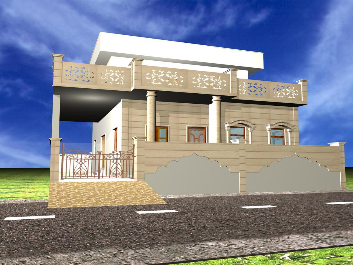 Front Elevation Marble Design : Stone elevation exterior design gharexpert