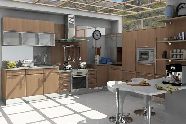 nice open kitchen...