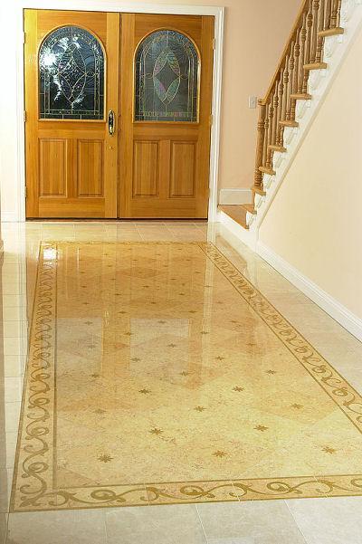 marble rug flooring