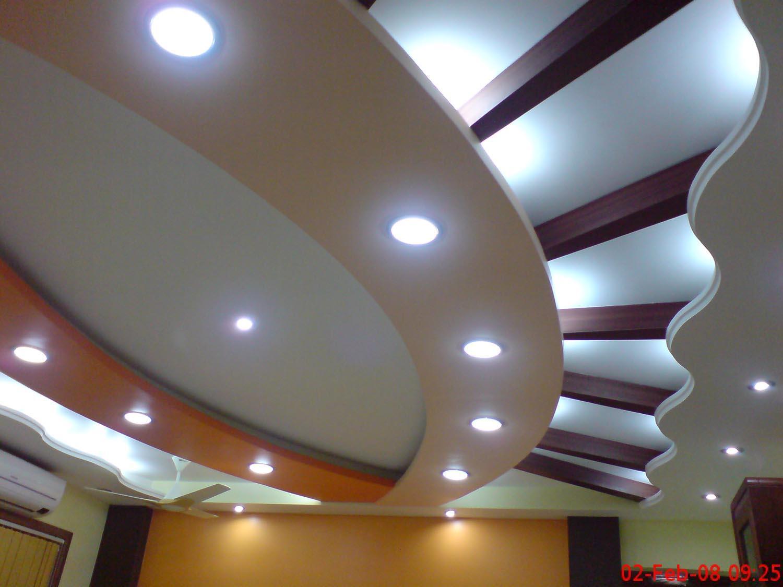 Stylish ceiling design with lighting gharexpert for Pop false ceiling designs for living room india