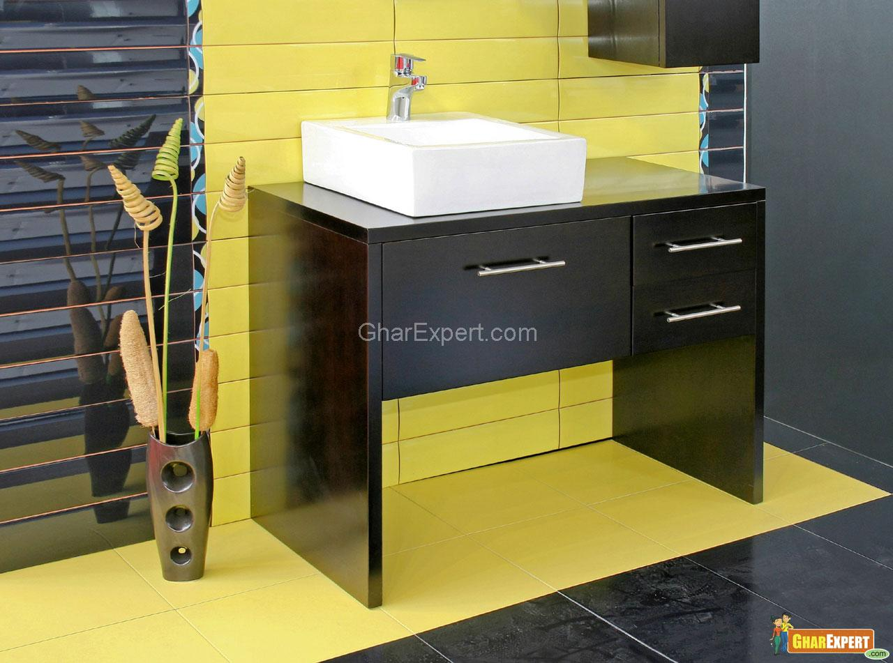 Wooden Bathroom with Green Cer....