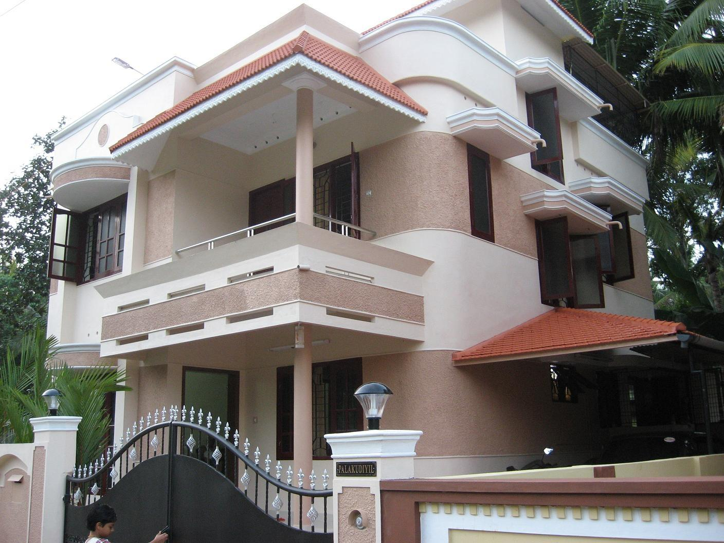 Front elevation designs for small independent houses in for Front view of duplex house in india