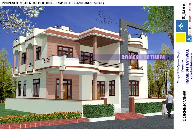 3d design of house elevation - Desing Of House