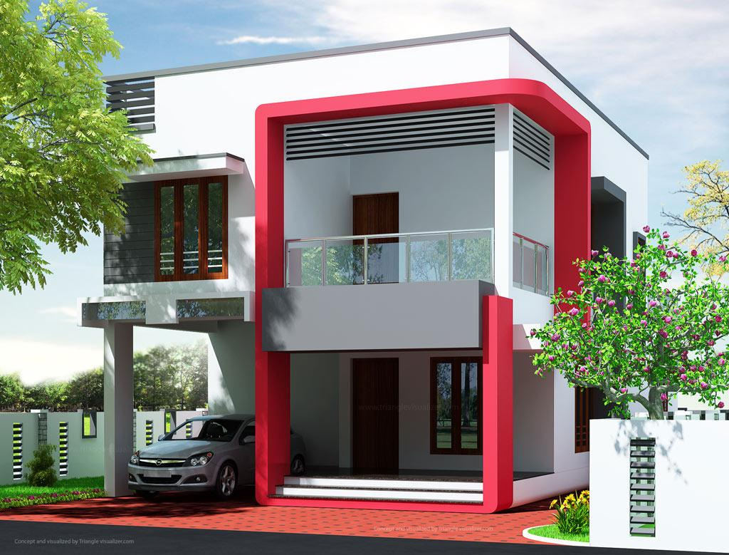 Modern house elevation gharexpert for Modern contemporary house elevations