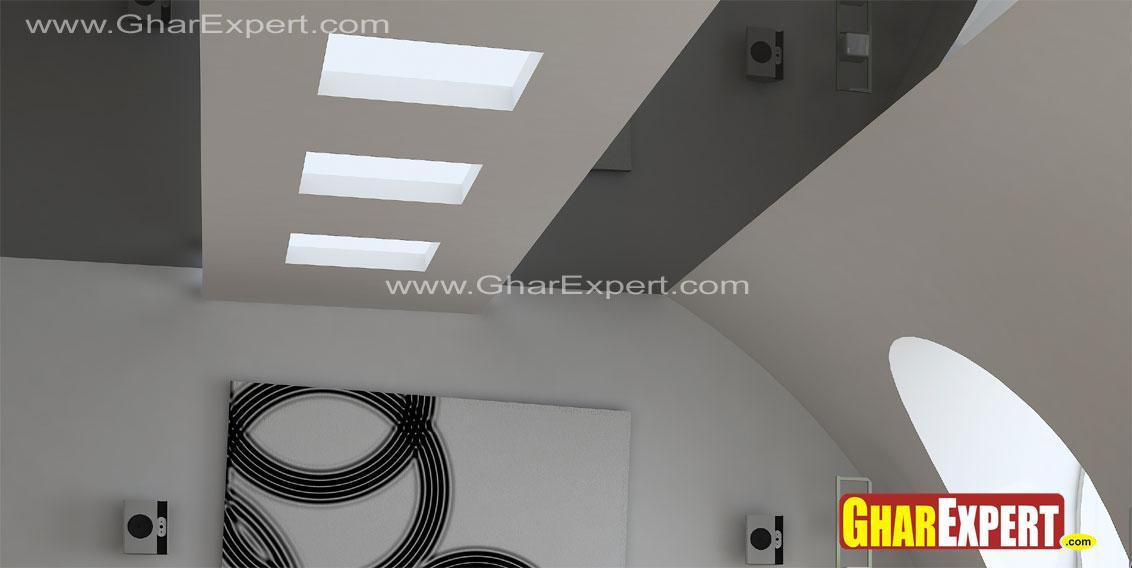 False ceiling design with cove....