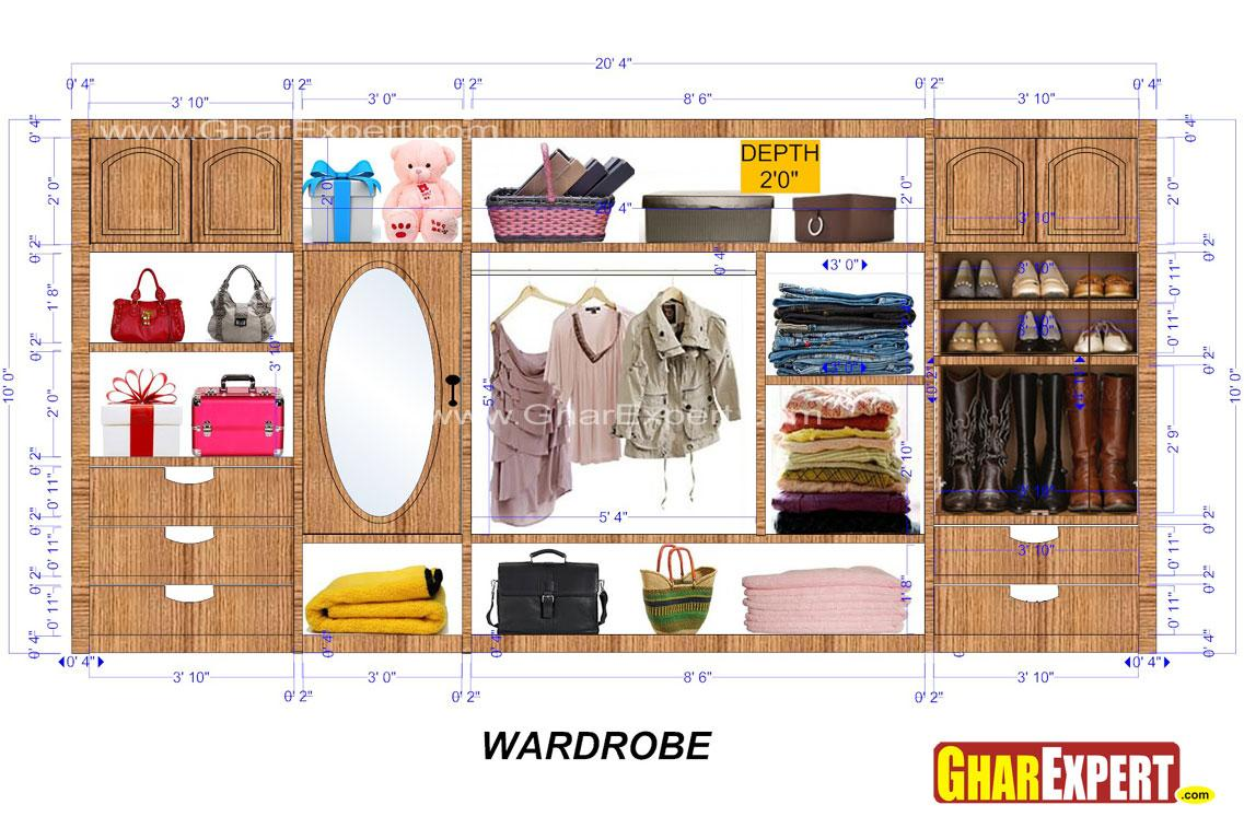 wardrobe Interior for 20 ft sp....