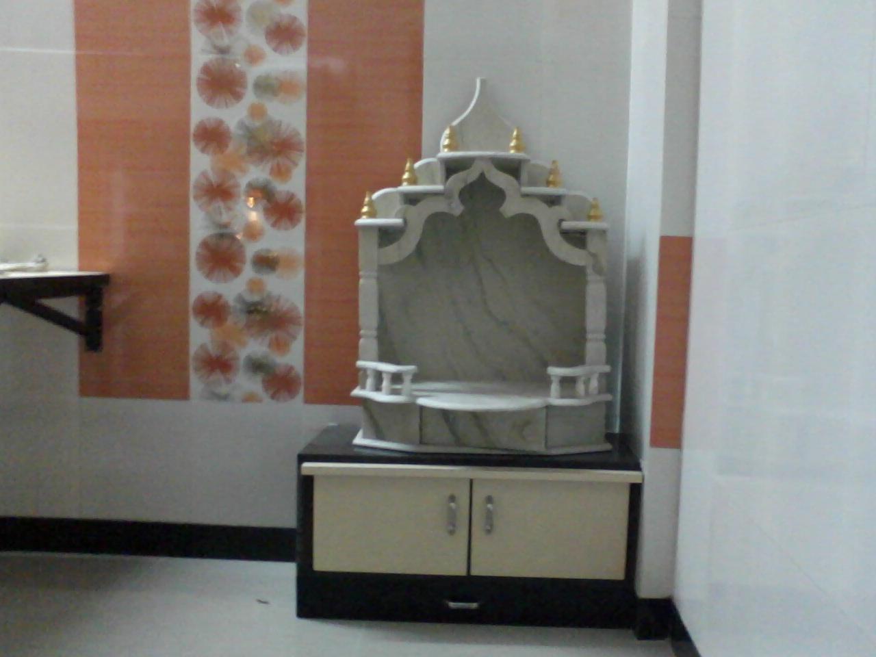 Marble Designing of Pooja room GharExpert
