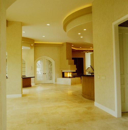 Italian Marble Tile Flooring In Living Room Gharexpert