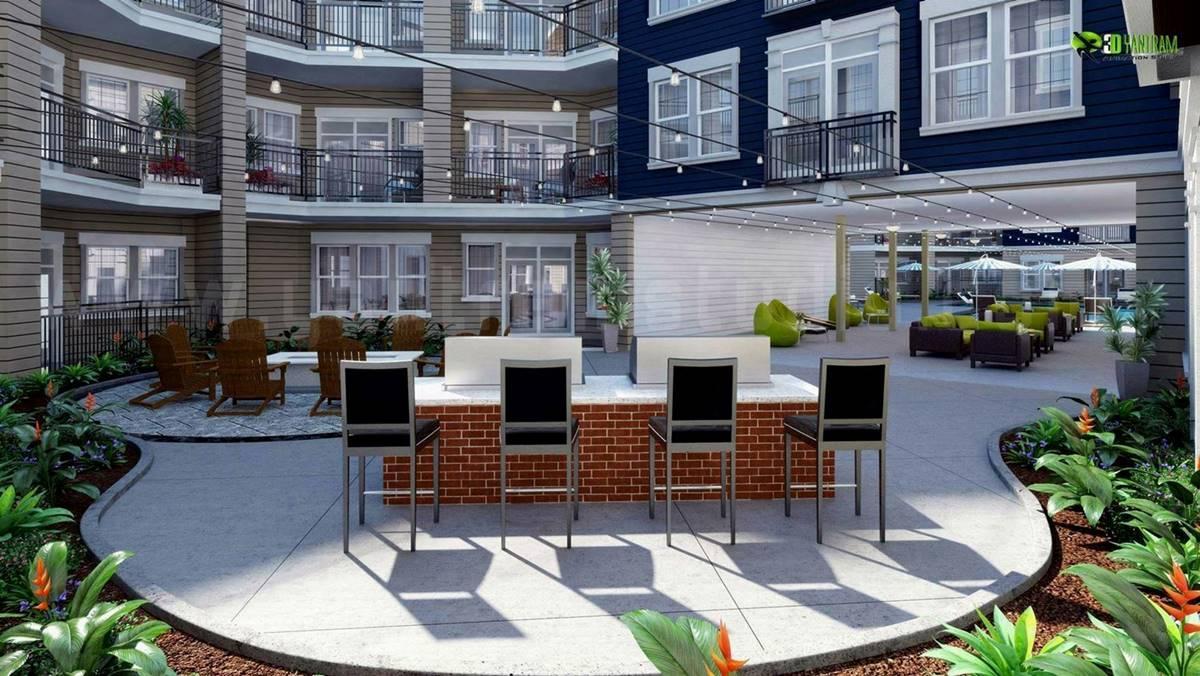 3D Exterior Courtyard Design R....