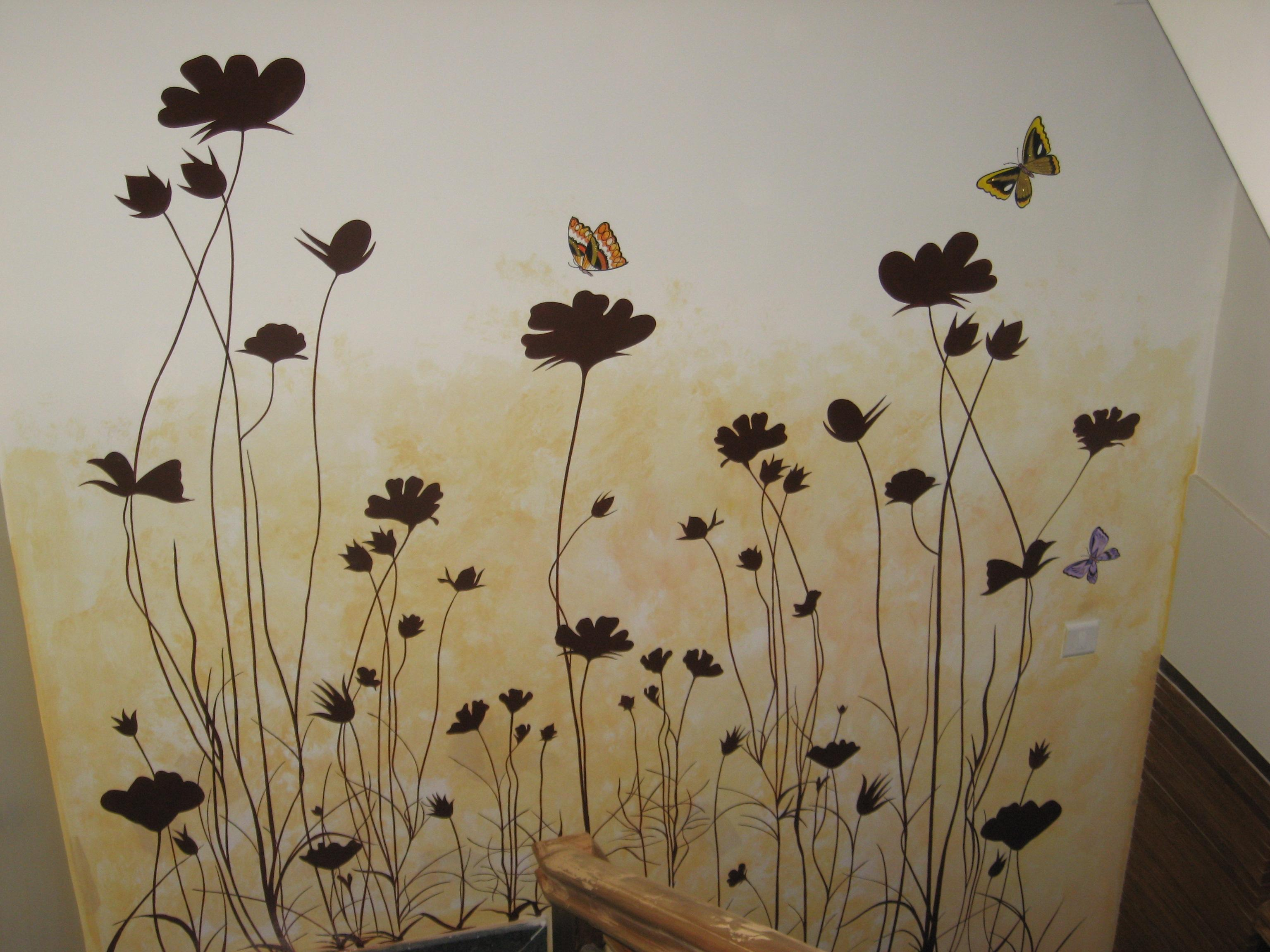 this is hand made wall paint design you can paint wall with your any