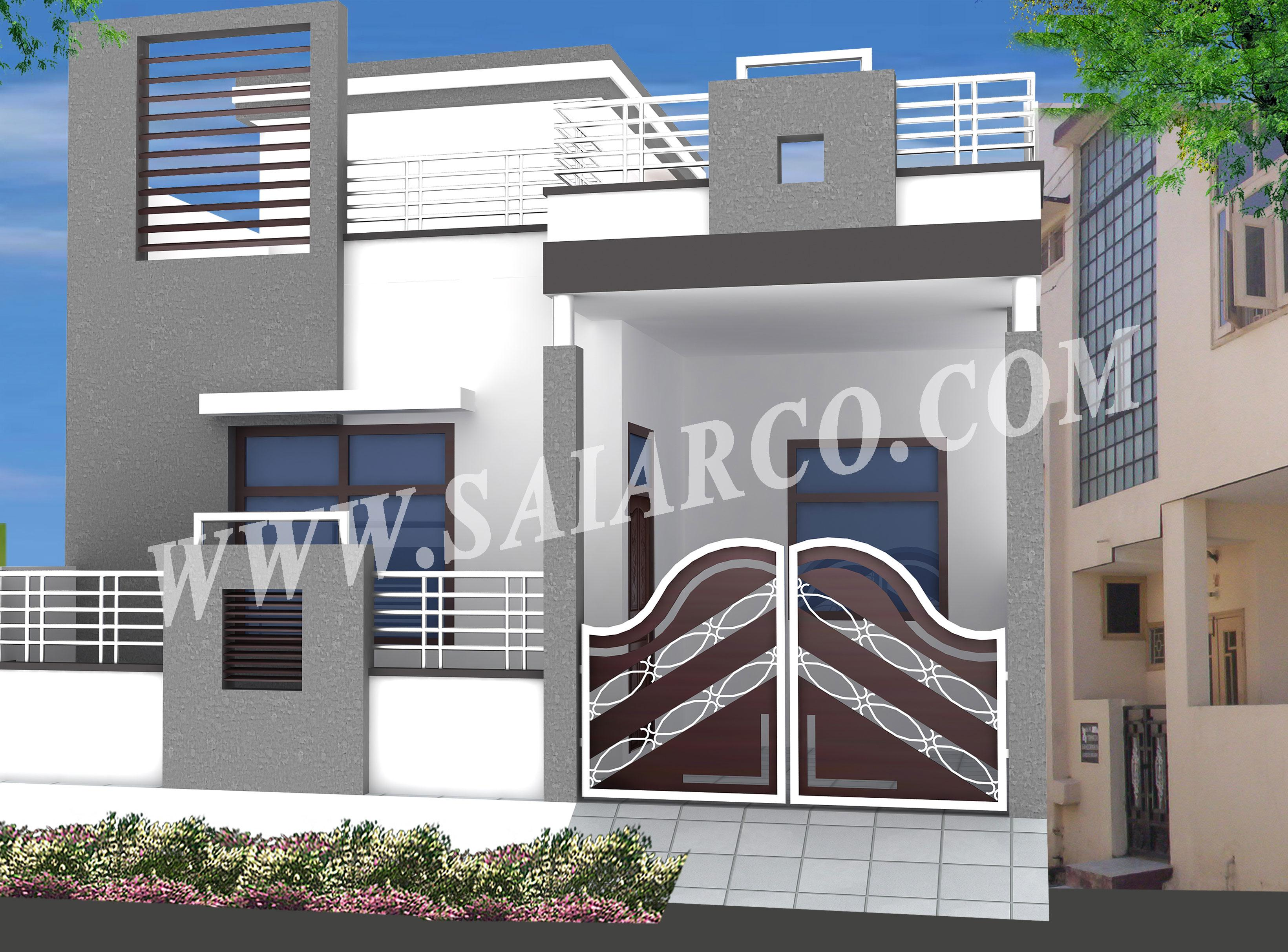 3d design of house exterior gharexpert for Design of building house