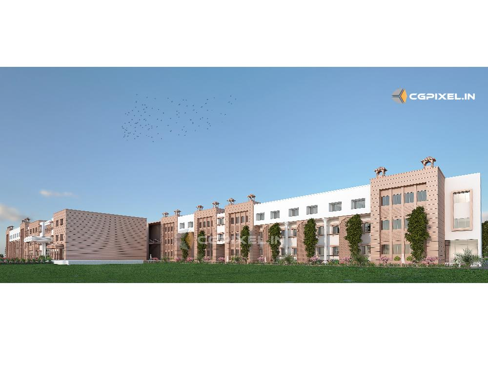 3D VIEW SCHOOL BUILDING KOTA