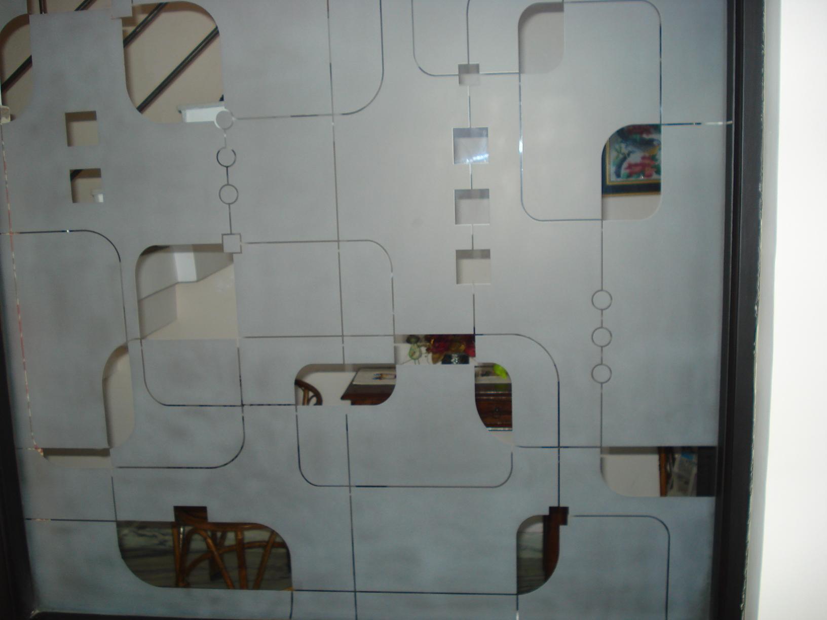 glass geometric pattern design