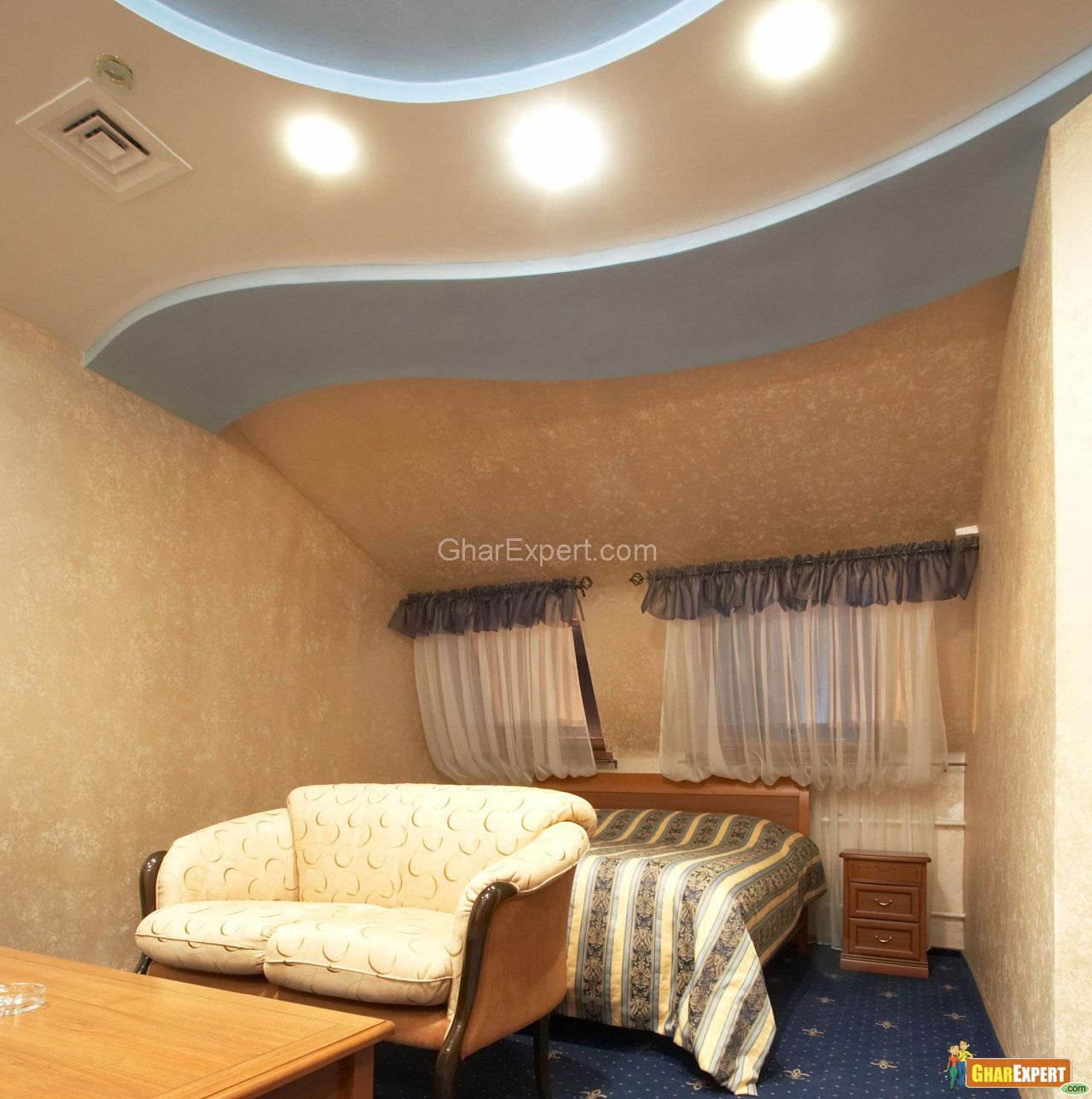 Bed Sofa Ceiling Design In