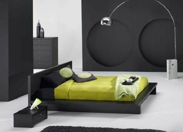 Bedroom Design in Black Theme