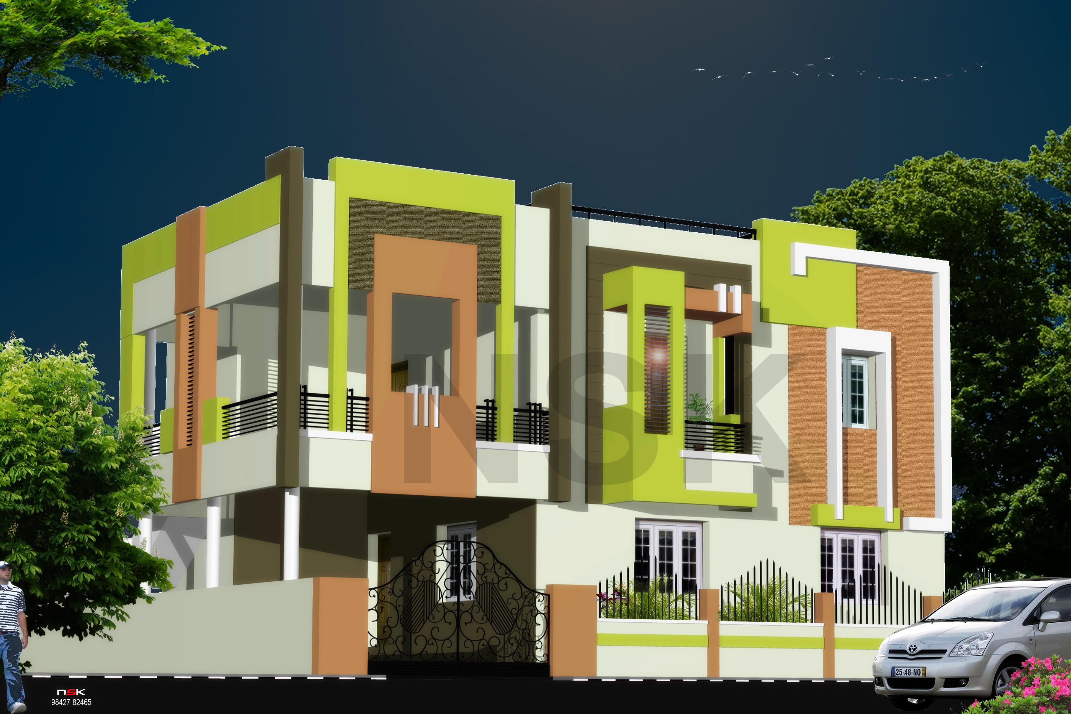 EXTERIOR  HOUSE  ELEVATION  DE....