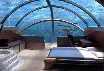 Superb Under Water Bedroom