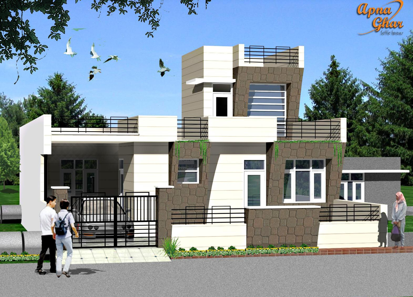 Real Estate Property And Contraction: Exterior House Designs In India