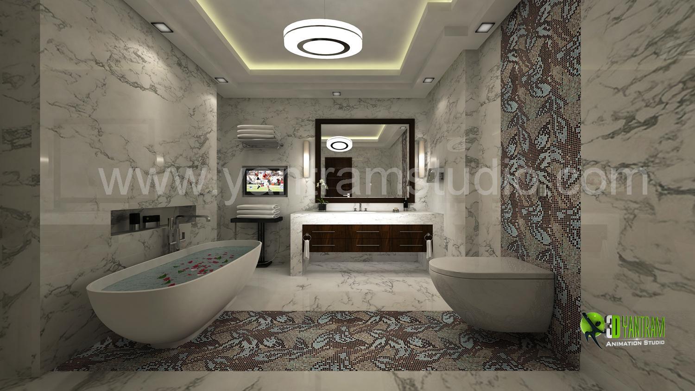 3D Bathroom Interior Design Re....