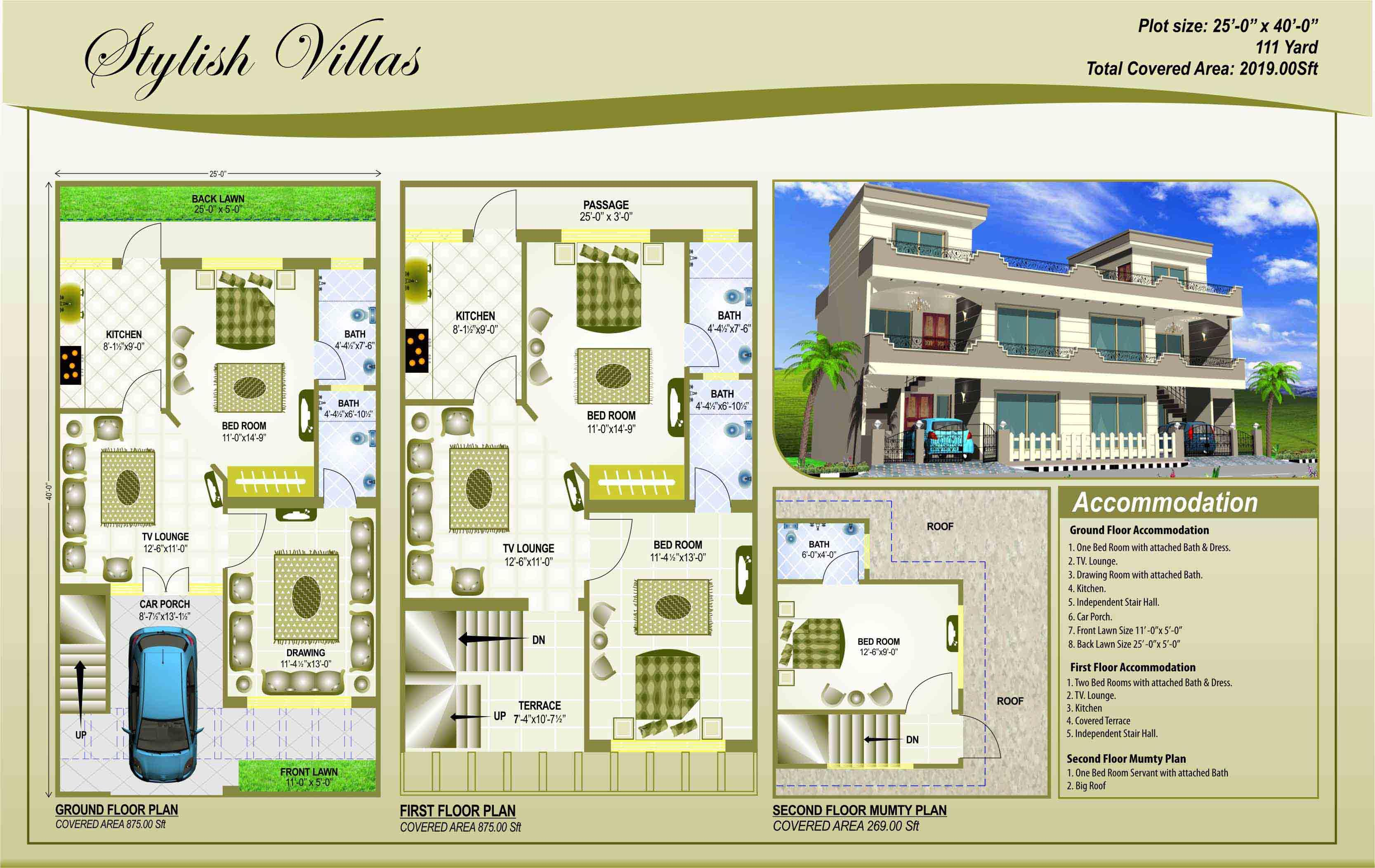 House Plan 25 X 45 Gharexpert