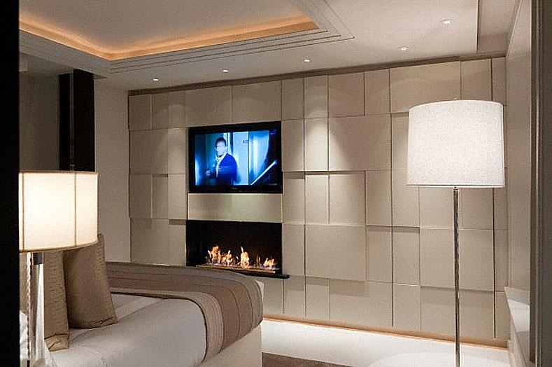 bedroom in modern style wall i....