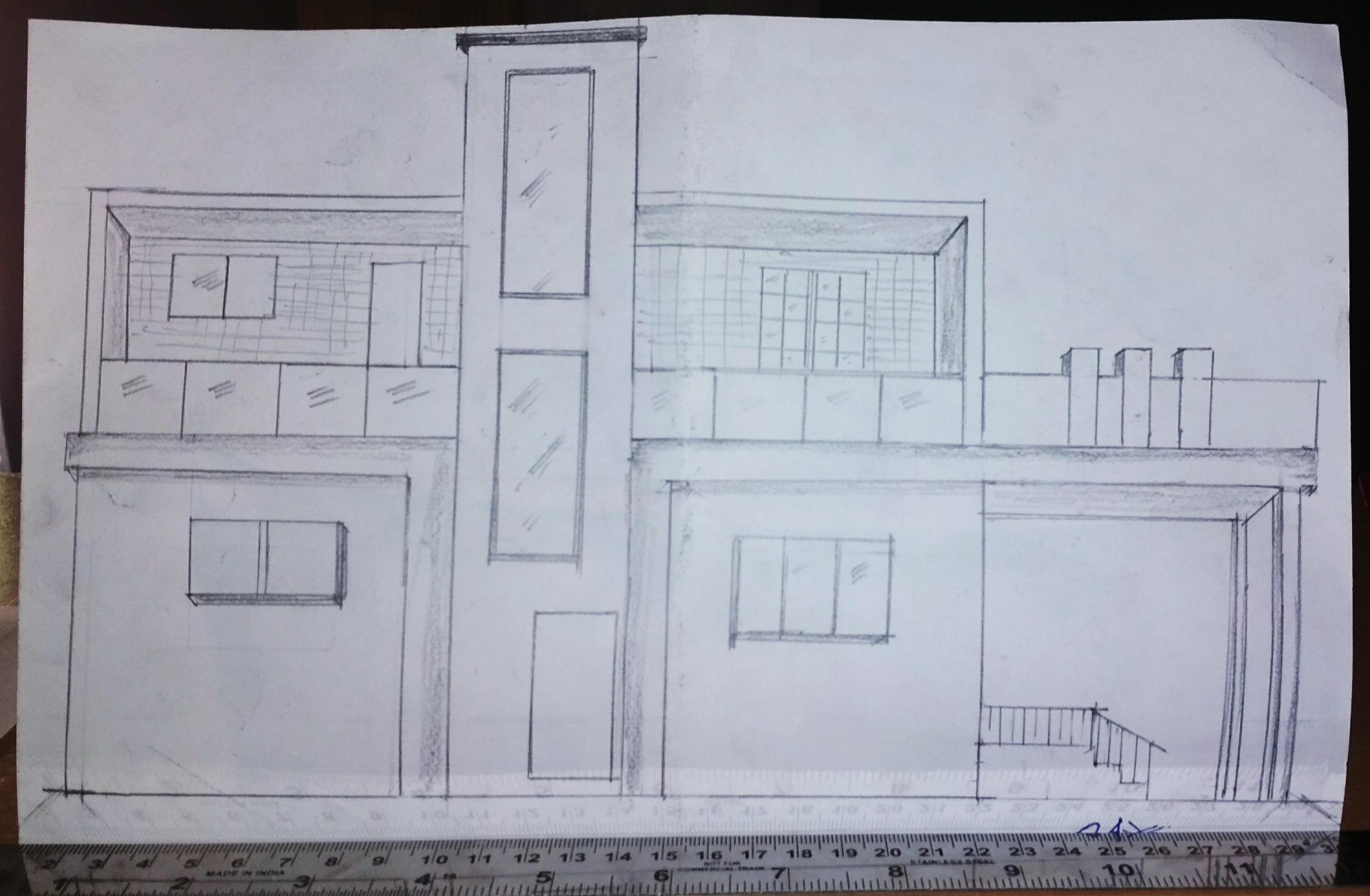 3d sketch north facing