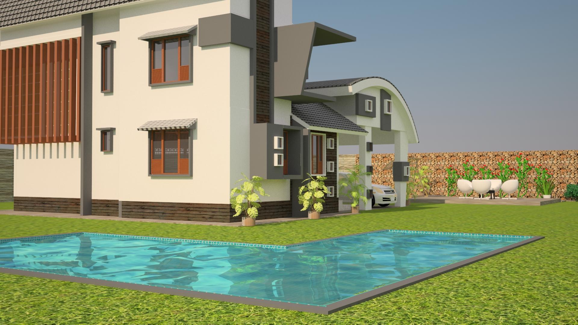 exterior elevation rendering f....