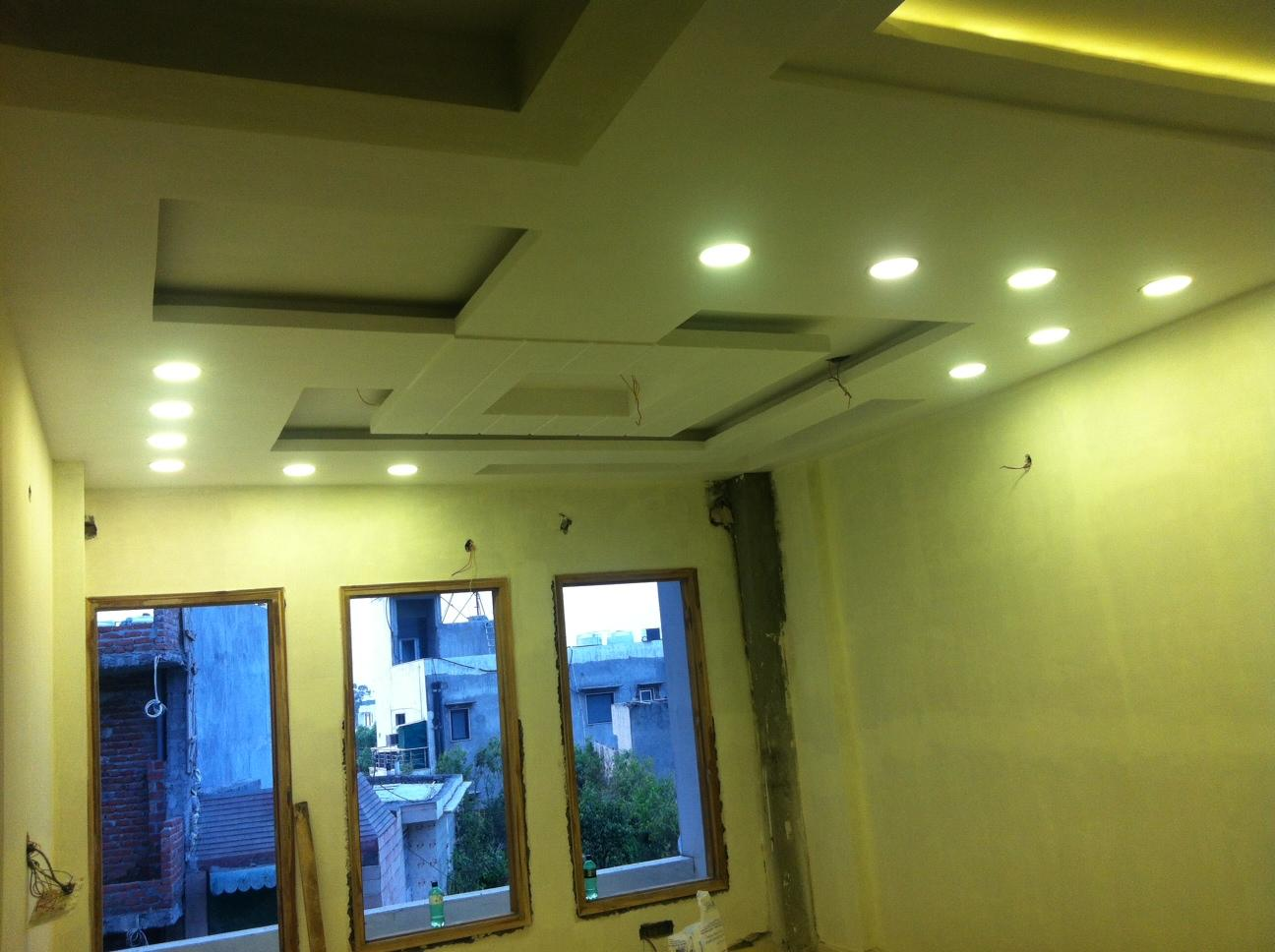 ceiling and lighting of living....