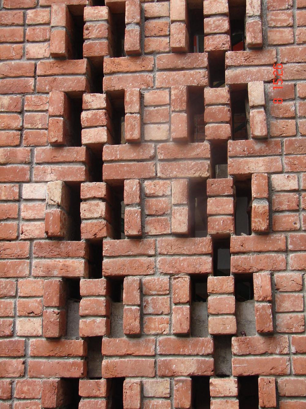 Brick jali gharexpert for Brick elevation design