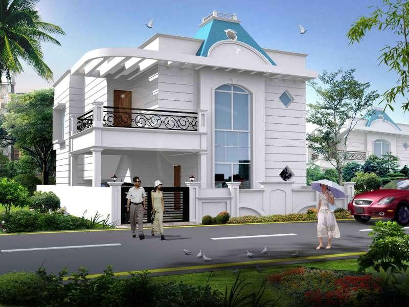 Duplex bunglow elevation plan gharexpert for Duplex bungalow elevation