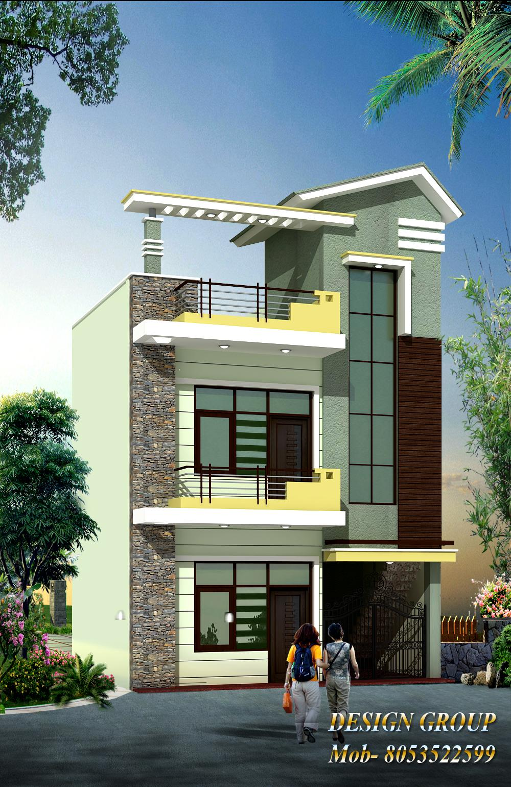 Front elevation gharexpert for Elevation design photos residential houses