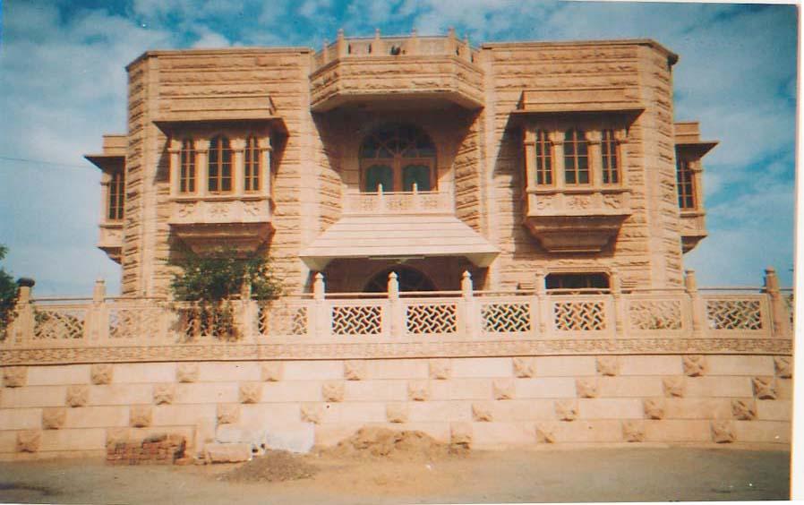 sand stone house