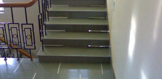 Kota Stone Flooring In Stairs Gharexpert
